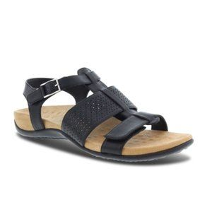 Vionic Black Rest Goldie Adjustable Strap Sandals Size 10